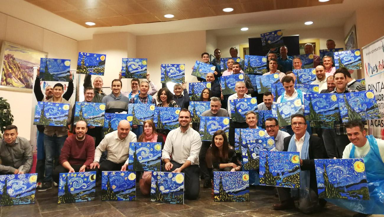 Eventos pintar empresas actividades grupo