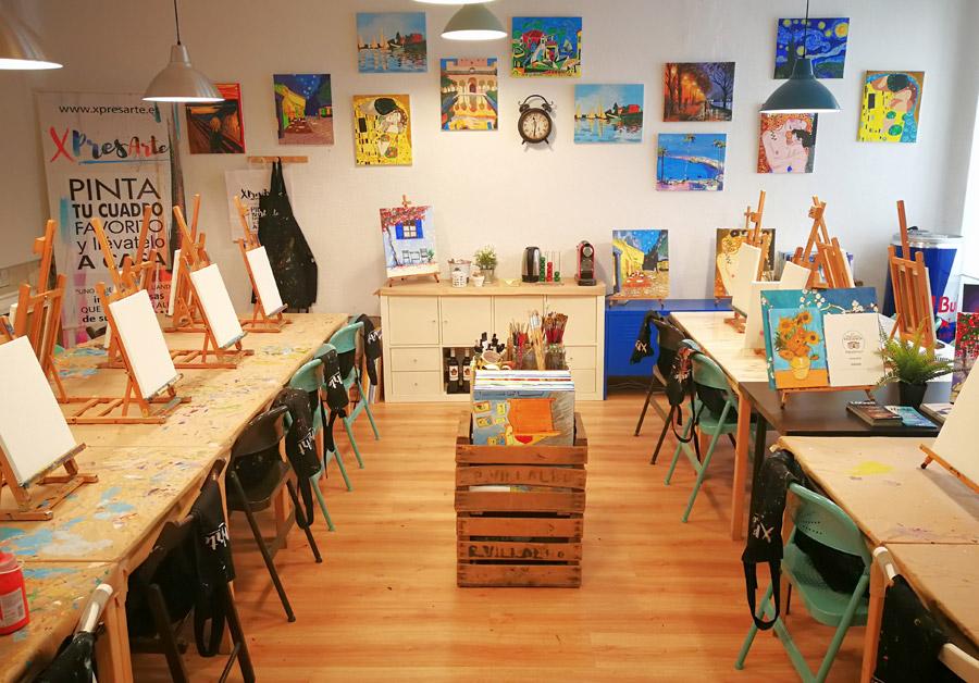 personaliza tu evento para pintar tu cuadro madrid